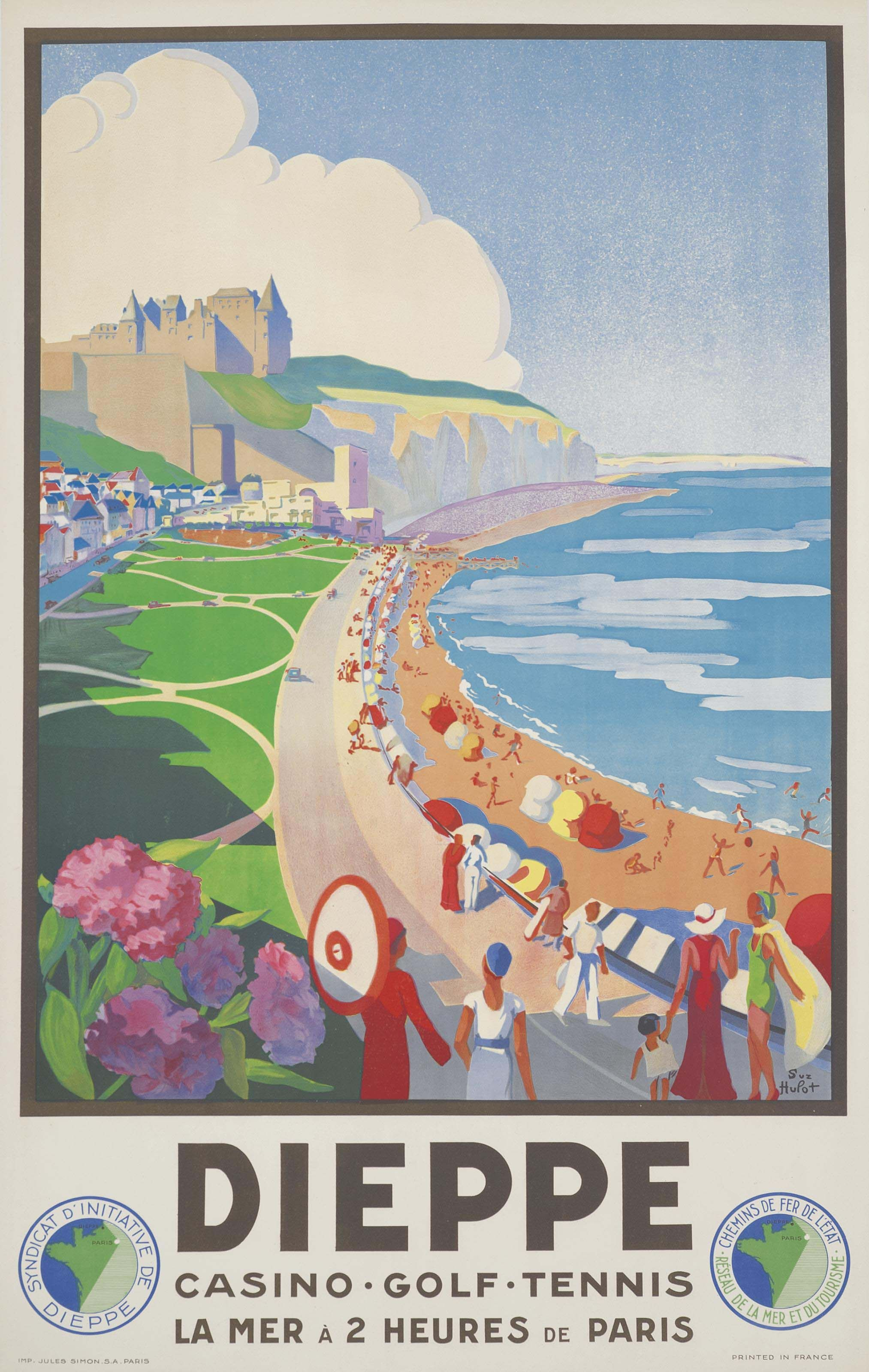 Suzanne Hulot Dieppe Posters Travel Exploration
