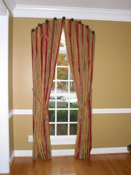 Arched window treatment idea for the home pinterest for Cortinas negras decoracion