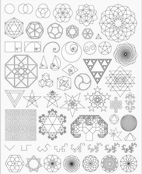 Drawing With Lines And Shapes : Basic geometry shapes mandala tattoo pinterest