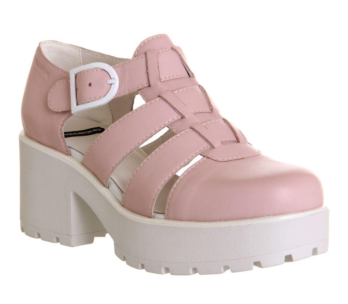 Black vagabond sandals - Vagabond Dioon Closed Toe Sandal Milkshake Pink Leather Mid Heels