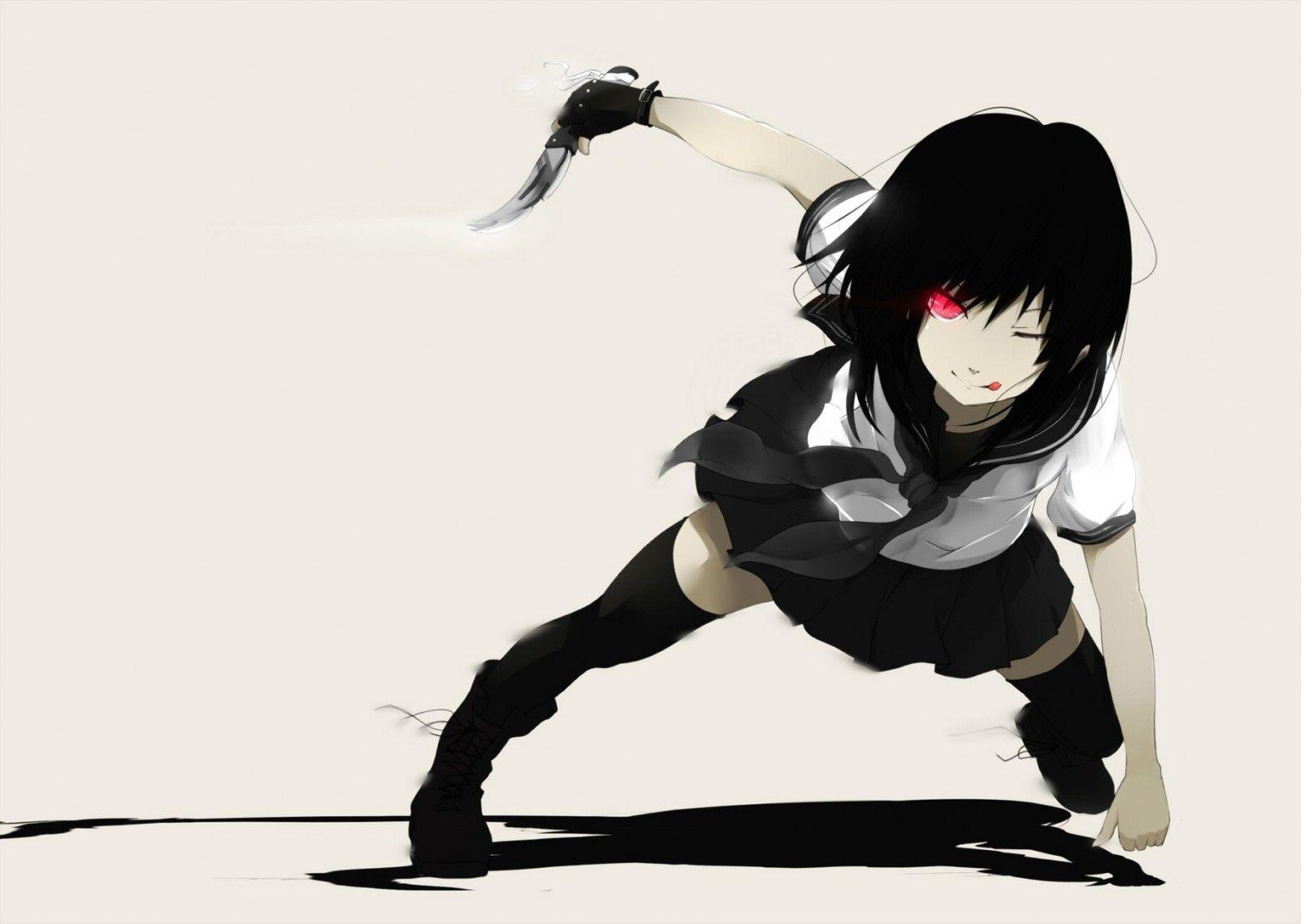 Cabello corto negro anime