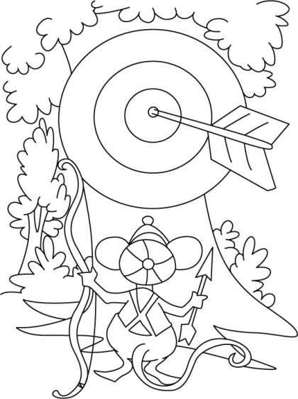 Archery Coloring Page Download