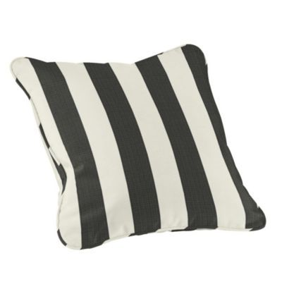 Outdoor Piped Throw Pillow 20 Inch Square Side Deck Pinterest