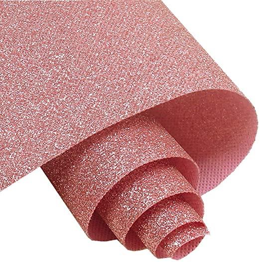 Self Adhesive Pink Fine Glitter Wallpaper Peel And Stick Roll Sparkle Glitter Decor Art Craft Fabric 17 4in X 1 Glitter Wallpaper Glitter Decor Fabric Crafts
