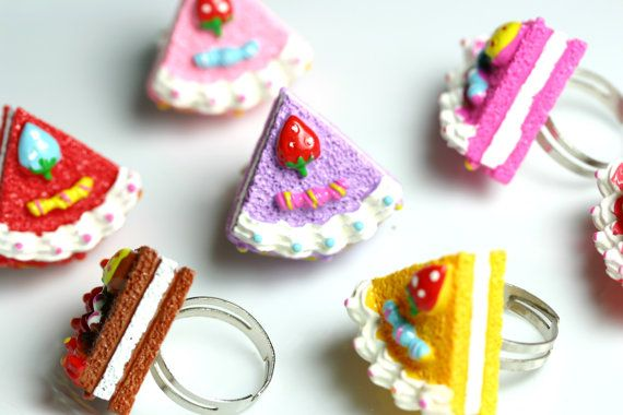 Kawaii Jewelry // Yummy Pastel Creme Cake Adjustable by CalicoClub, $5.00