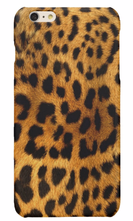 Leopard fur leather glossy iPhone 6/6s, 6/ 6s plus case