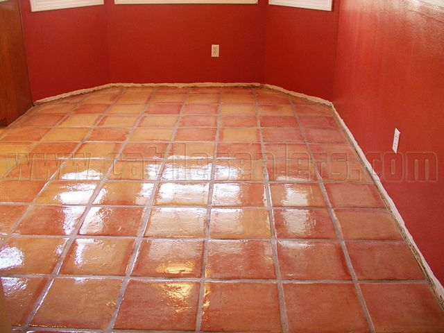 Mexican Saltillo Paver Tiles Completely Stripped To Bare