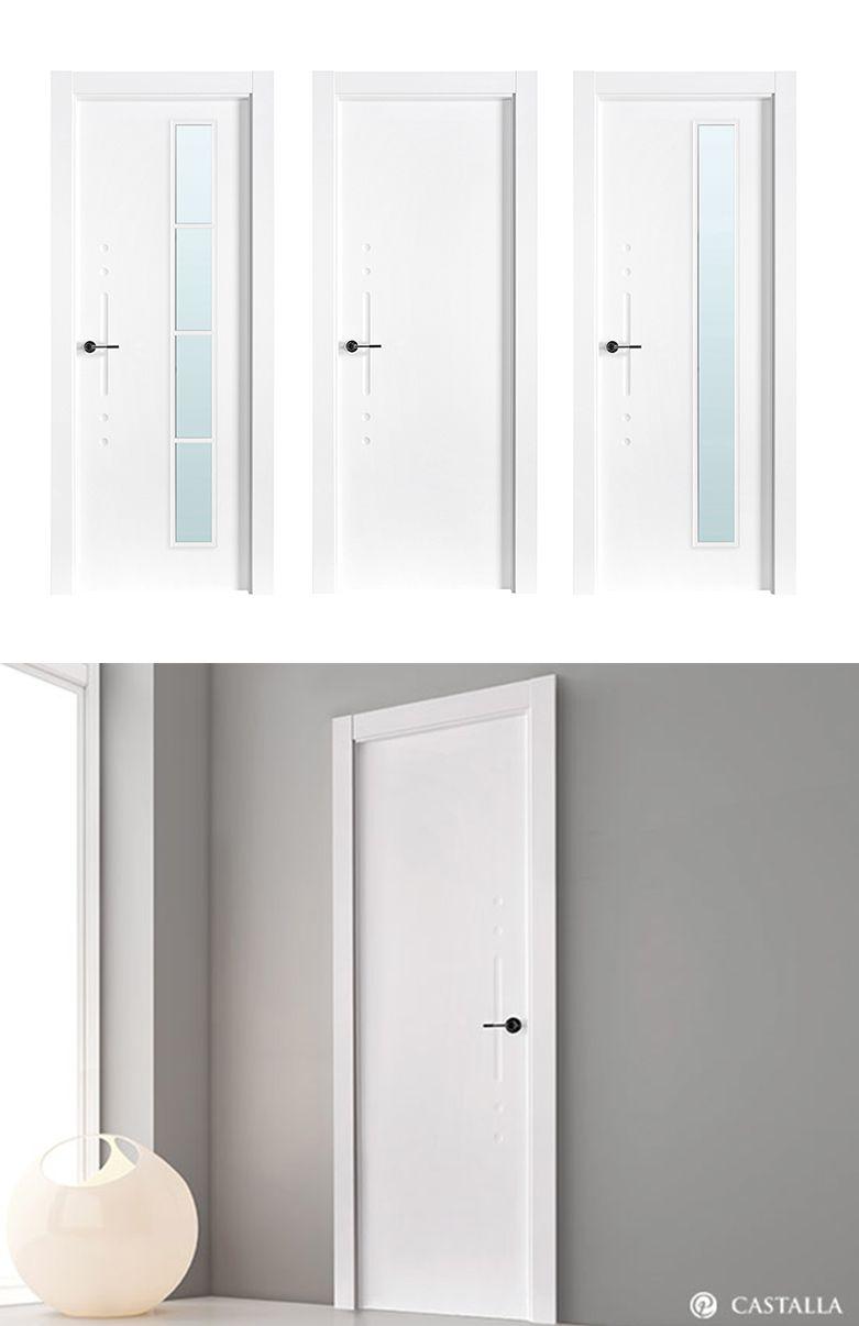 Puerta de interior blanca modelo tiziano de la serie for Puertas blancas lisas interior