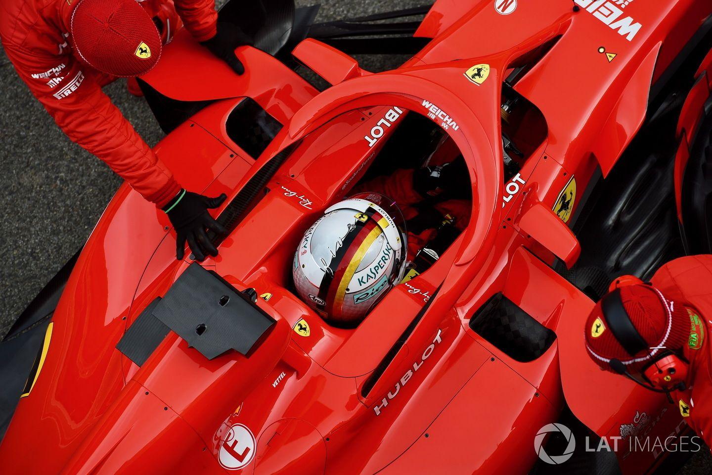 Sebastian Vettel, day 2 Barcelona test, SF71H