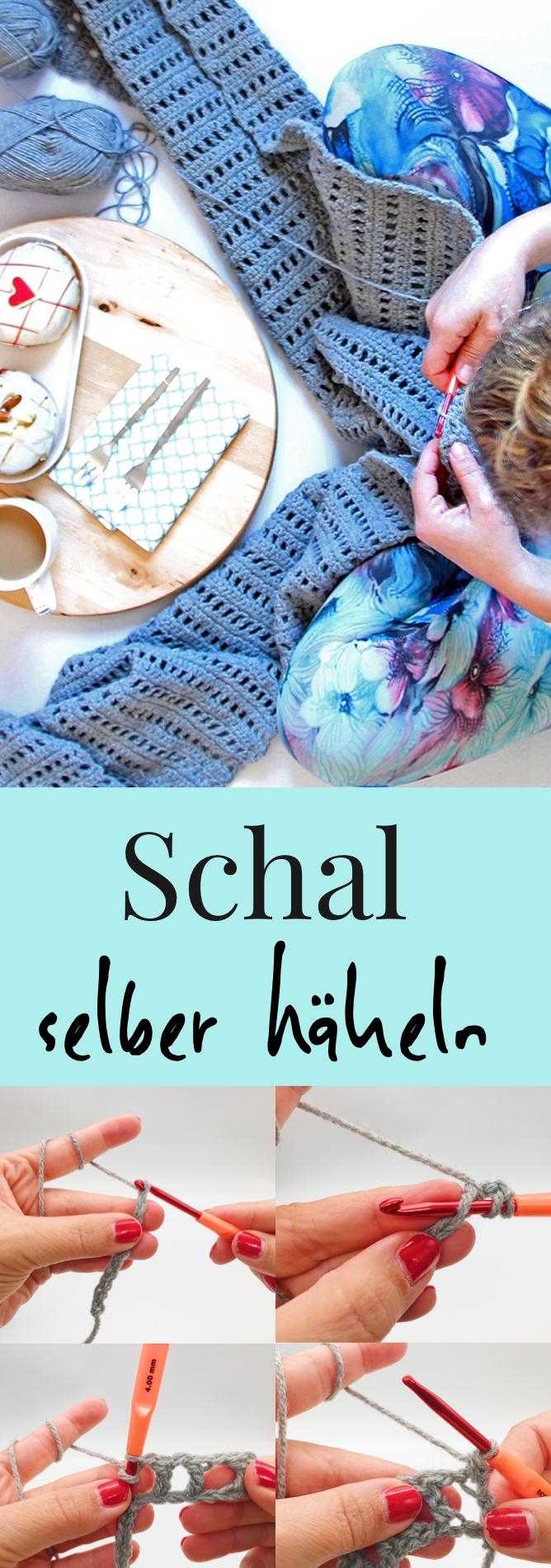 Schal Häkeln Einfache Häkelanleitung Für Einen Schal Häkeln