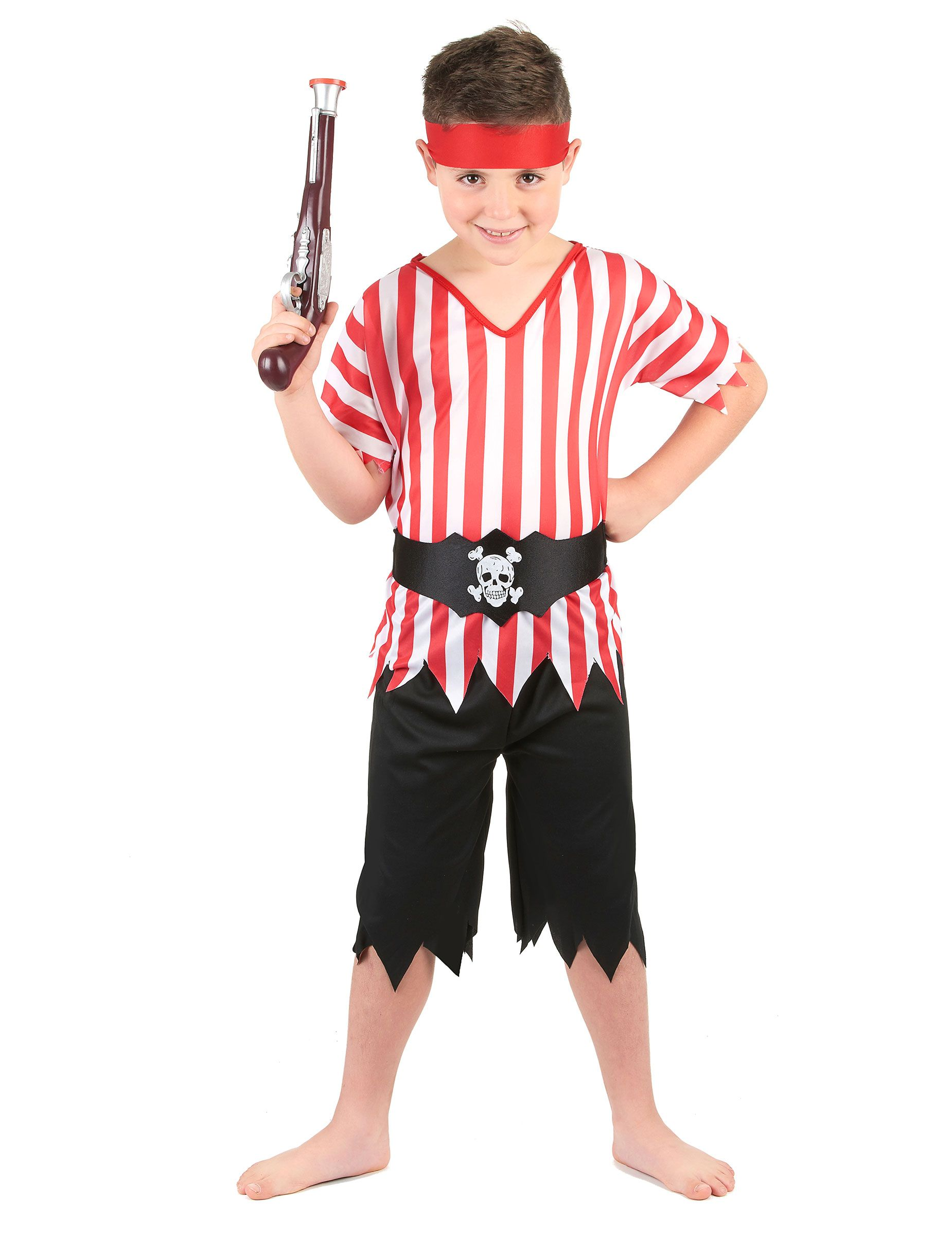 dd652a30dbb Disfraz de grumete pirata para niño  Este disfraz de grumete pirata para  niño se compone