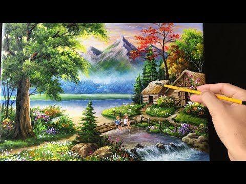 Paisaje Pintura Acrilica Leccion Manana En El Lago Por Jmlisondra Youtube Pinturas Hermosas Videos De Pintura Arte En Lienzo