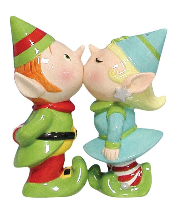 Look at this Elves Salt & Pepper Shakers on #zulily today!