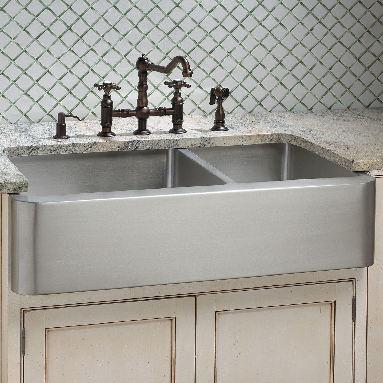 stainless farmhouse sink offset double bowl stainless steel farmhouse sink  stainless farmhouse sink 36 .