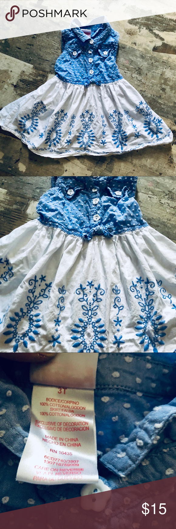 Gorgeous Embroidered Toddler Girls Dress 3t Toddler Girl Dresses 3t Dress White Embroidered Dress [ 1740 x 580 Pixel ]
