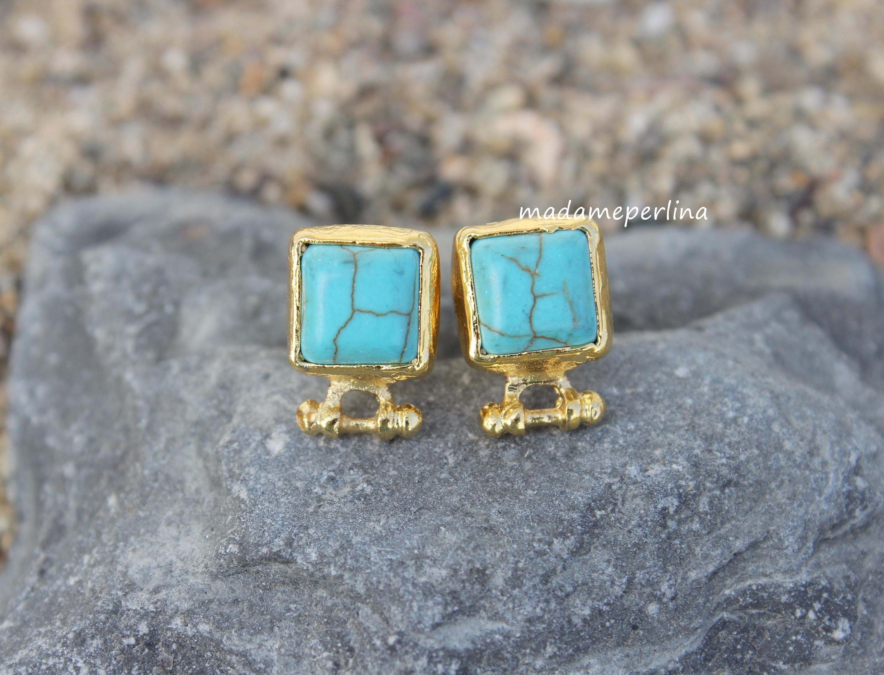 metallic co tiny il marble stud supply howlite turquoise earrings geo fullxfull listing