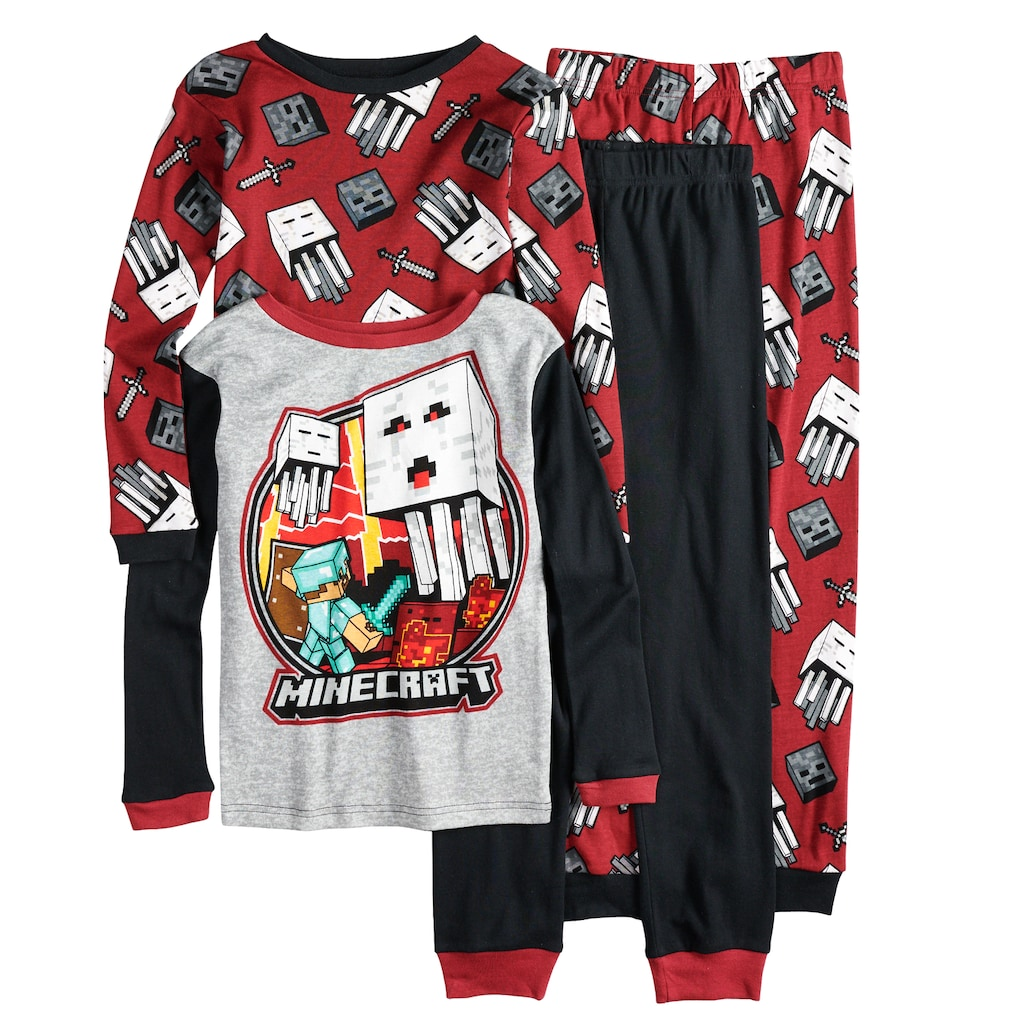 Boys 6-12 Minecraft 4-Piece Pajama Set  e49dff3c3