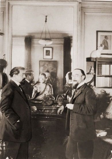 Composers Claude Debussy and Eric Satie
