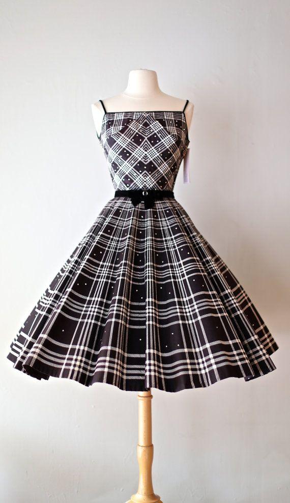 4c74e19c0b235 Amazing 1950s Plaid Party Dress Vintage 50s by xtabayvintage ...
