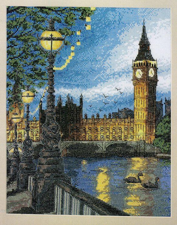 Cross Stitch World: Cross Stitch: NIGHT LONDON free chart | Counted ...