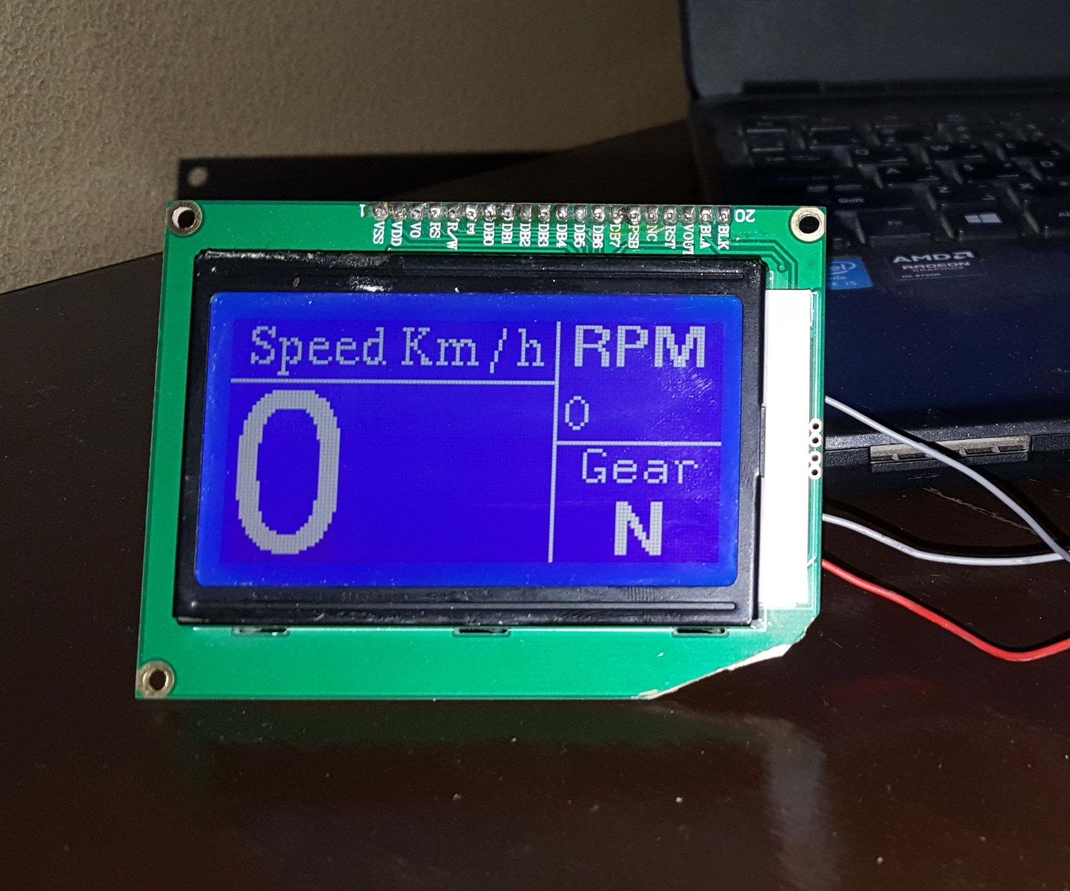 Arduino Bike Speedometer With 128 X 64 Graphics LCD | Tech Projects