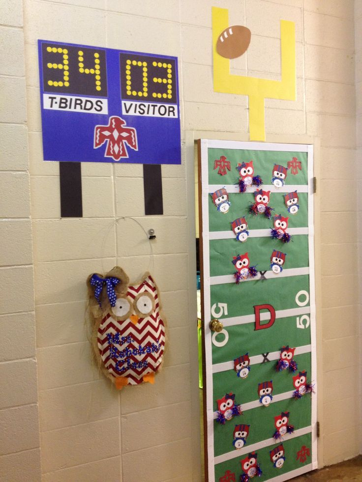 High School Classroom Door Decoration Ideas ~ Football decorations for the classroom