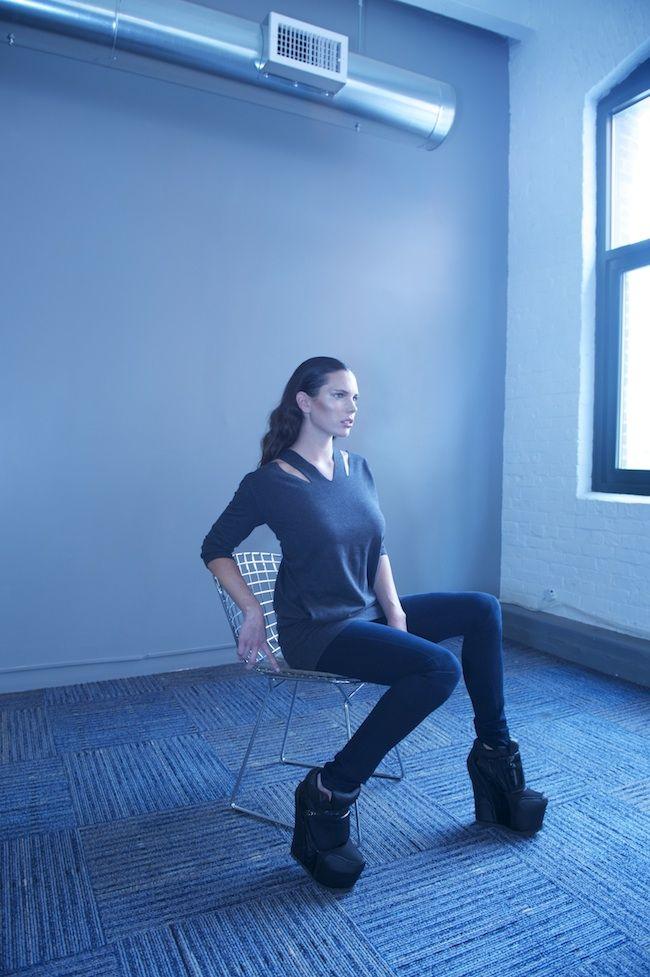 Center-parted sleek hair by Liz Grace / Photos by Sandy Poirier #shagforlife #MM6 Available at RICCARDI BOSTON.