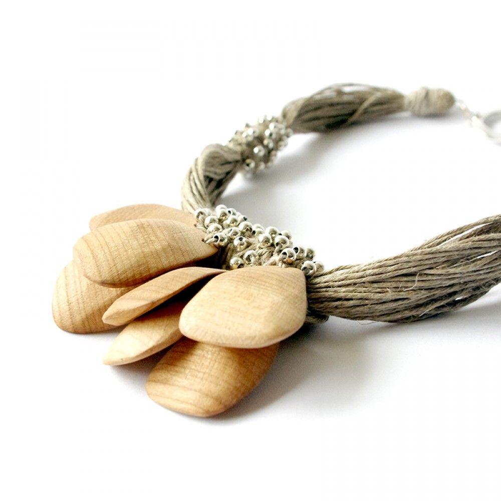Linen Jewellery: Sandy Dreams - Linen Necklace