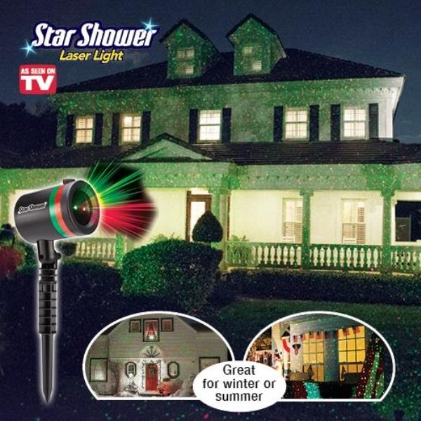 Star Shower Star shower laser light, Star shower laser and Holidays