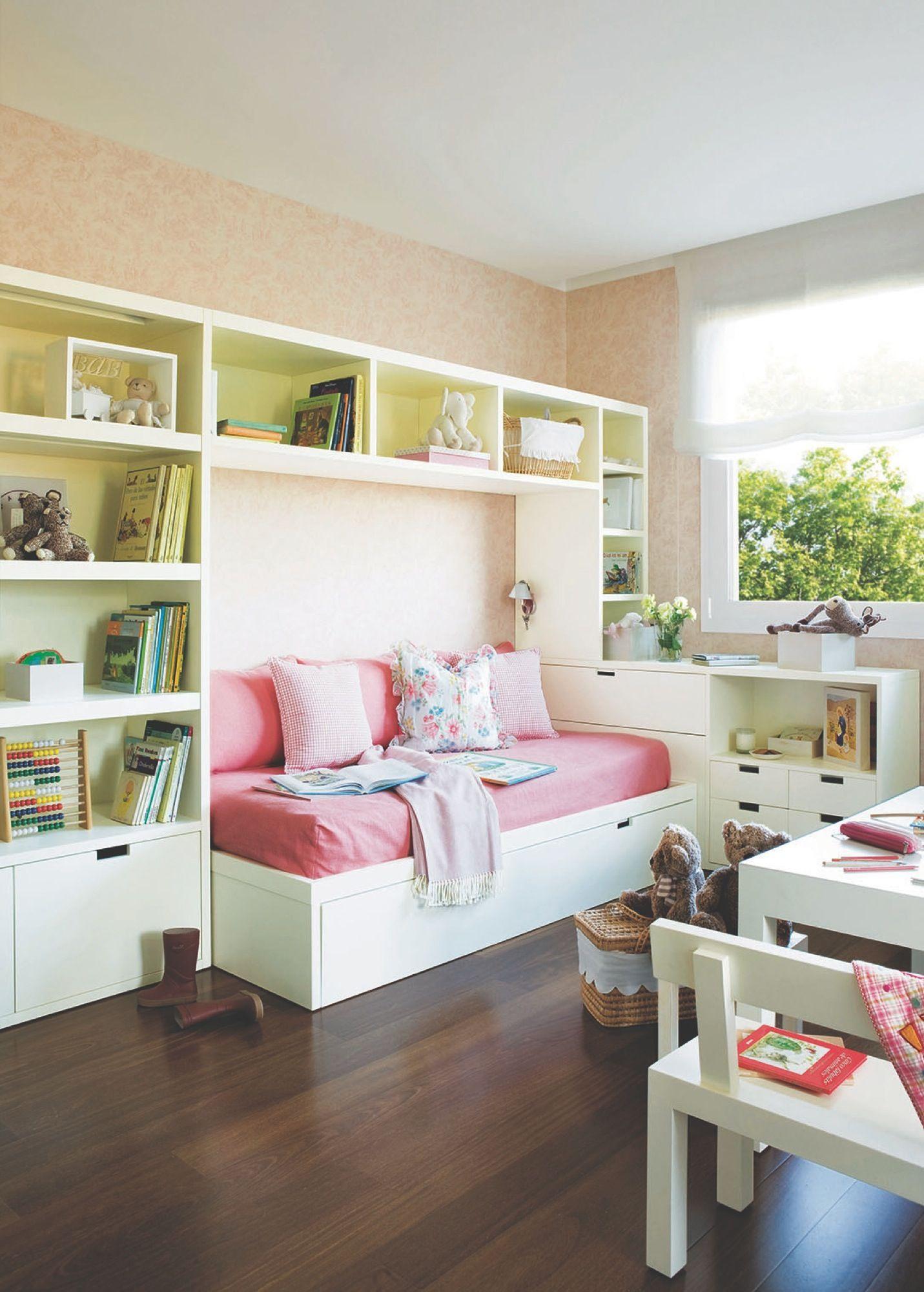 Con cama nido y una librer a a medida kidsroom and - Habitacion infantil cama nido ...