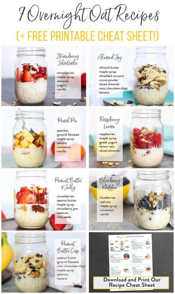 7 Overnight Oats Recipes (You're Going to LOVE These)
