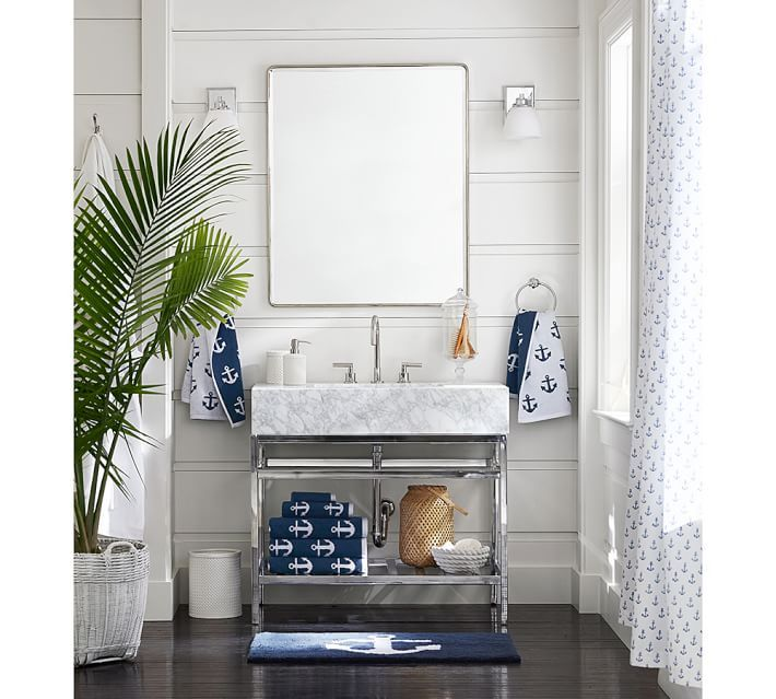 clarence apothecary single sink vanity - chrome | anchor