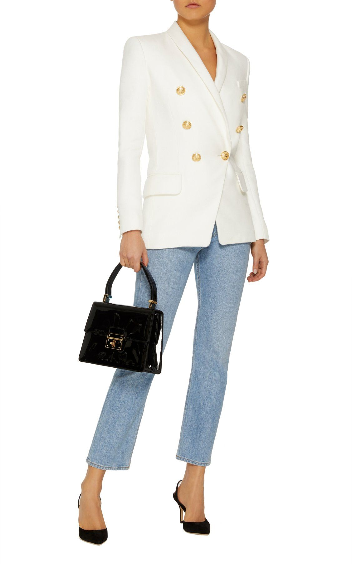 5eaf805b Double-Breasted Crepe Blazer by Balmain Spring Summer 2018 | Spring ...
