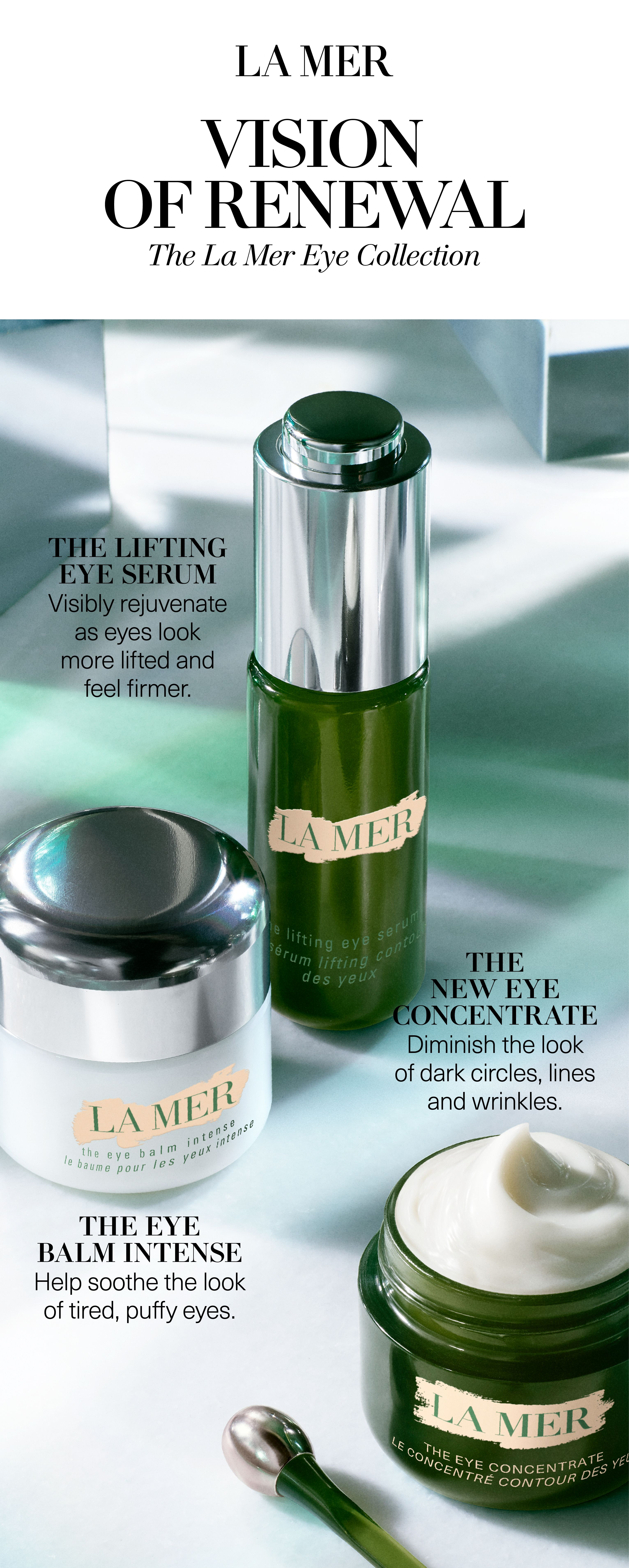 The Eye Concentrate La Mer S Best Eye Cream La Mer Official Site Best Eye Cream Skin Care Natural Beauty Skincare
