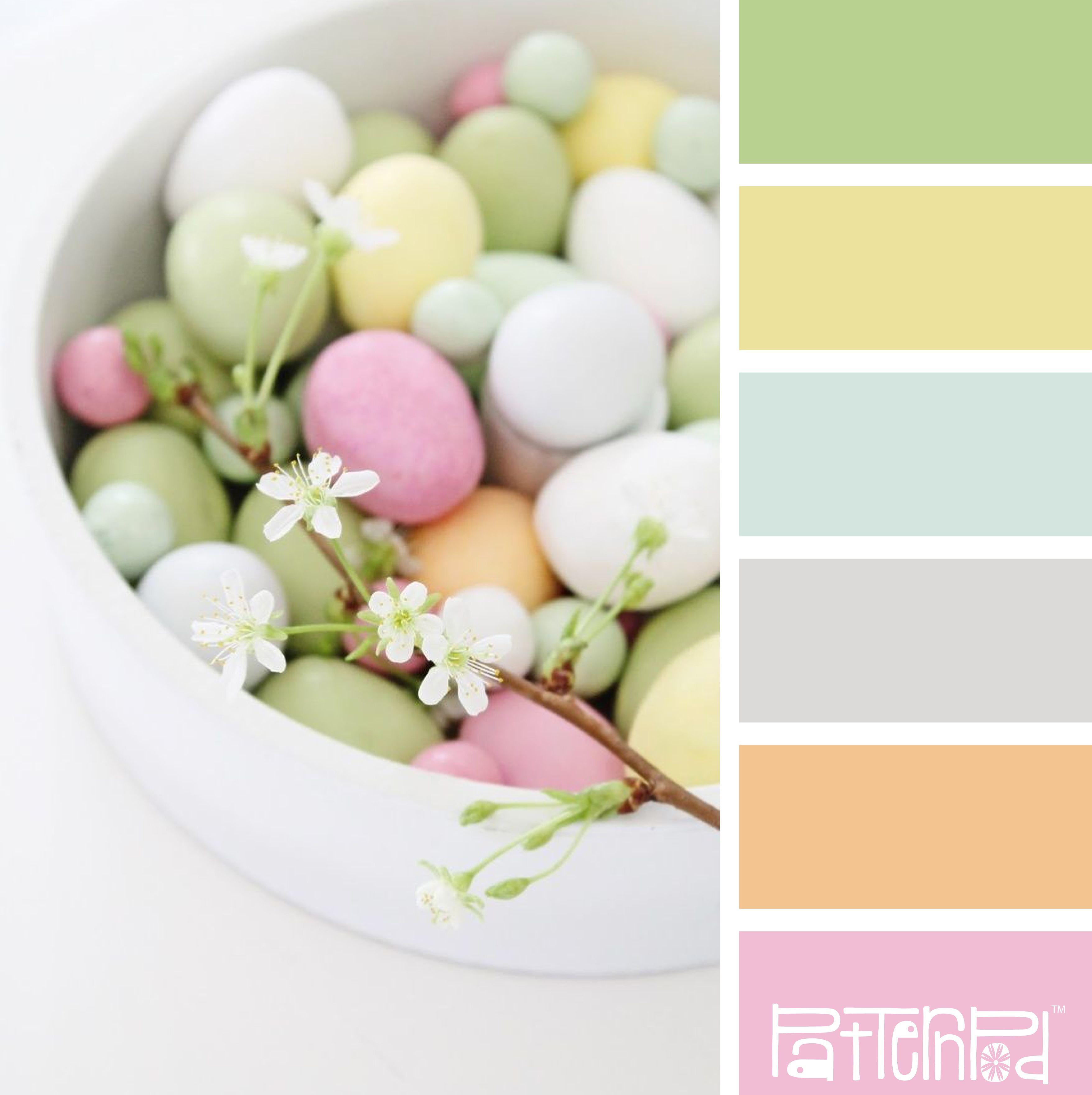 Website soft colors - Easter Pastel Color Palette For A Colorful Website