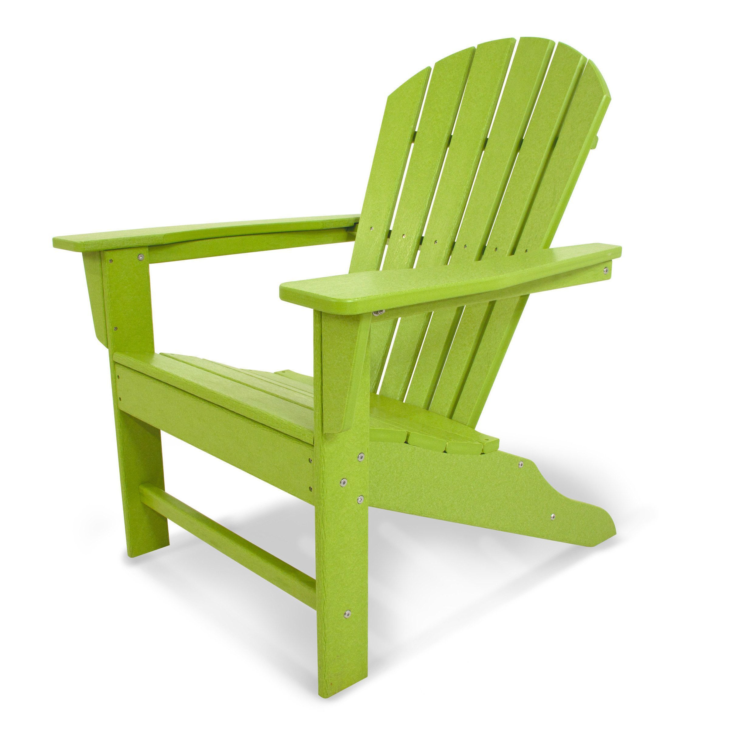 lime green patio furniture. Polywood South Beach Adirondack (Lime), Green, Size Single, Patio Furniture ( Lime Green