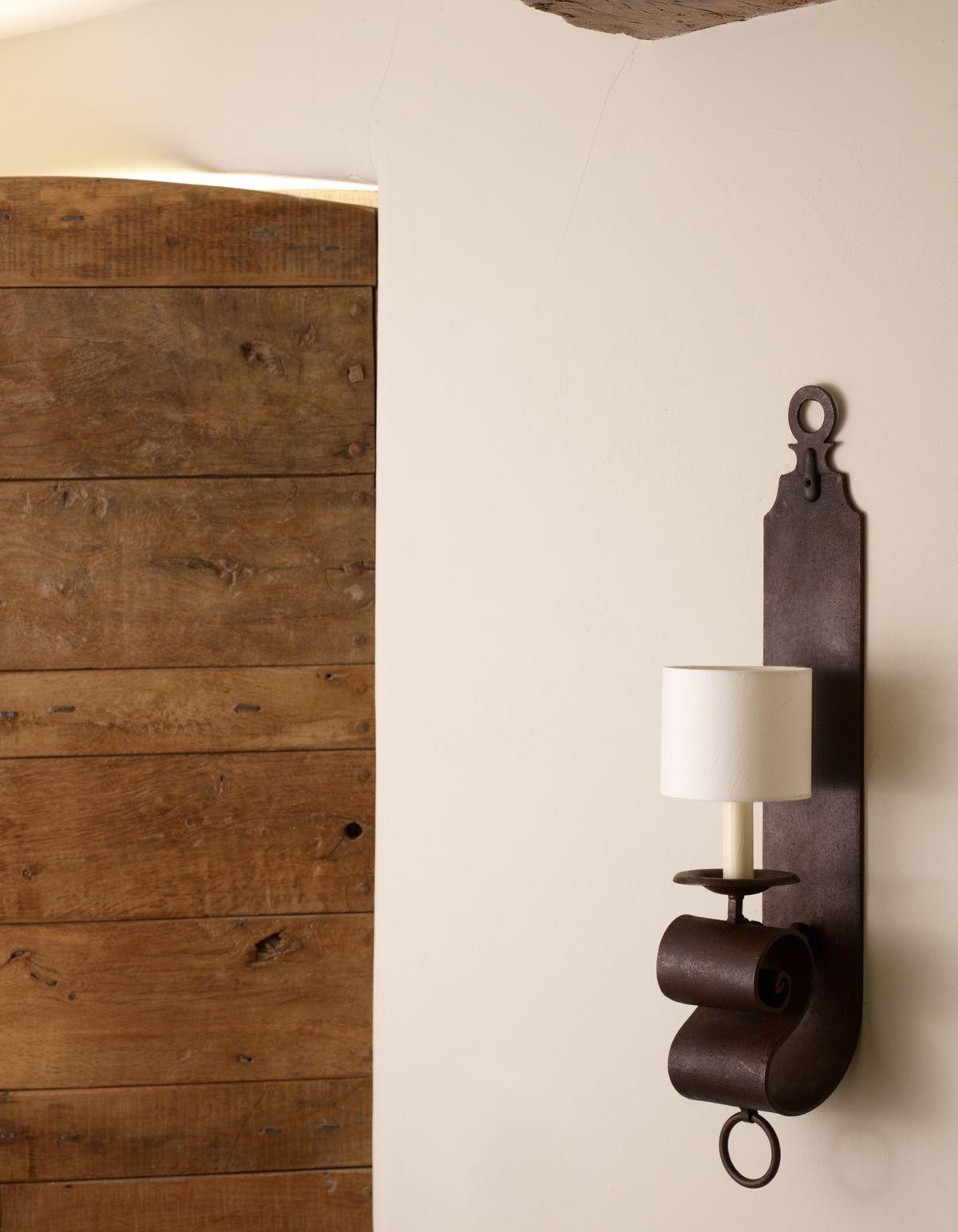 Jabron iron wall light vaughan designs lighting in