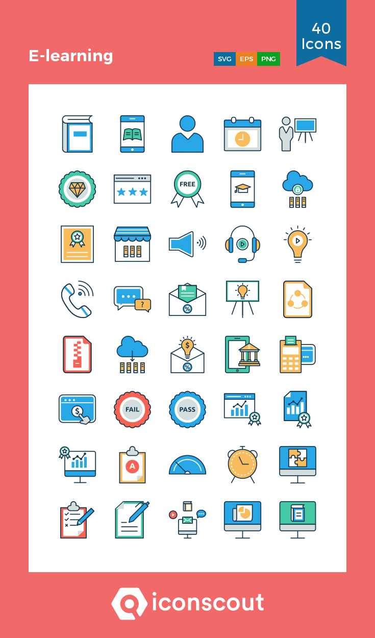 Download E Learning Icon Pack Available In Svg Png Eps Ai Icon Fonts Icon Pack Icon Icon Font