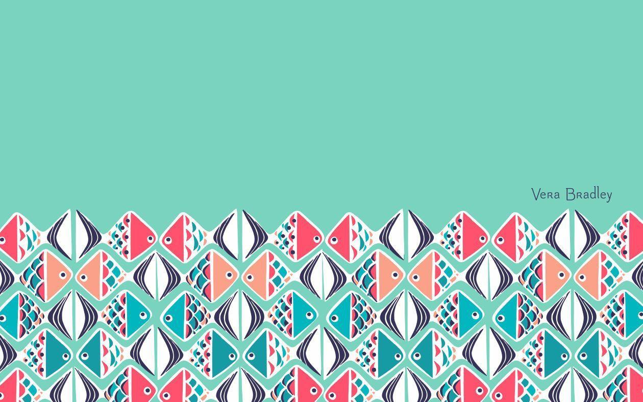 Go Fish Desktop Wallpaper Vera Bradley Patterns Phone Wallpaper Design Going Fishing