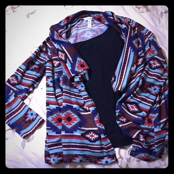 Aztec print cardigan Aztec printed cardigan, versatile can wear with jeans or a skirt. Sweaters Cardigans