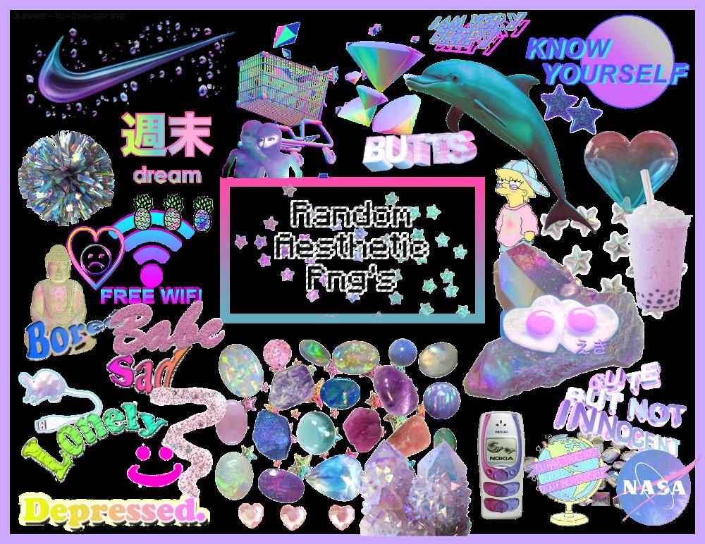 21 Free Aesthetic Png Packs Hipsthetic Png Vaporwave Branding Mood Board
