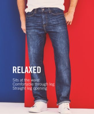 00aefa6c Tommy Hilfiger Men's Relaxed Tapered Carpenter Jeans, Created for Macy's -  Blue 35x32