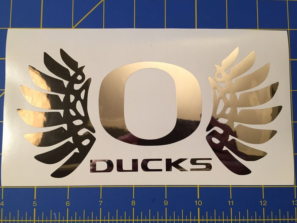 Oregon ducks wings decal car window sticker vinyl mirror finish