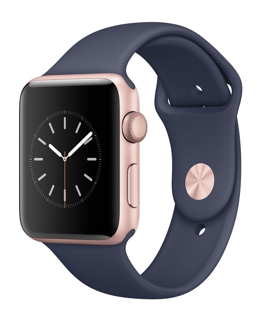 3f264d3a5 Apple Watch Series 2 42mm Rose Gold Aluminum Case with Midnight Blue Sport  Band