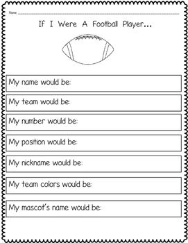 Here are four free sports themed writing prompts for fall ...