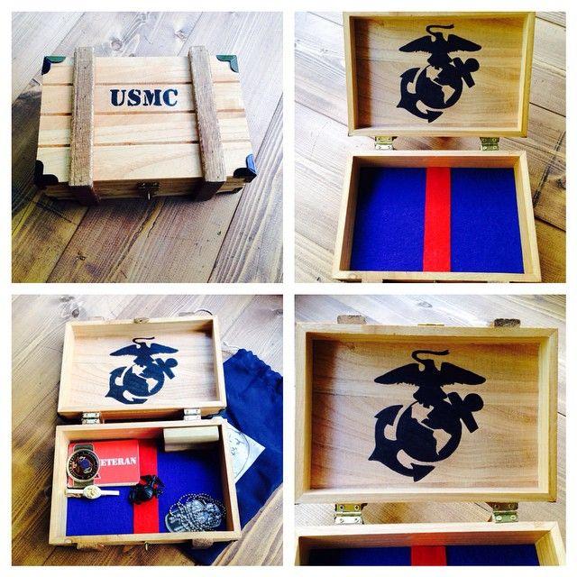 Usmc Wooden Keepsake Box Marines Marinecorpsgifts