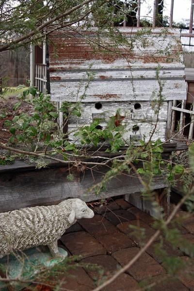 old prim garden needfulsweathered birdhouse - Prim Garden