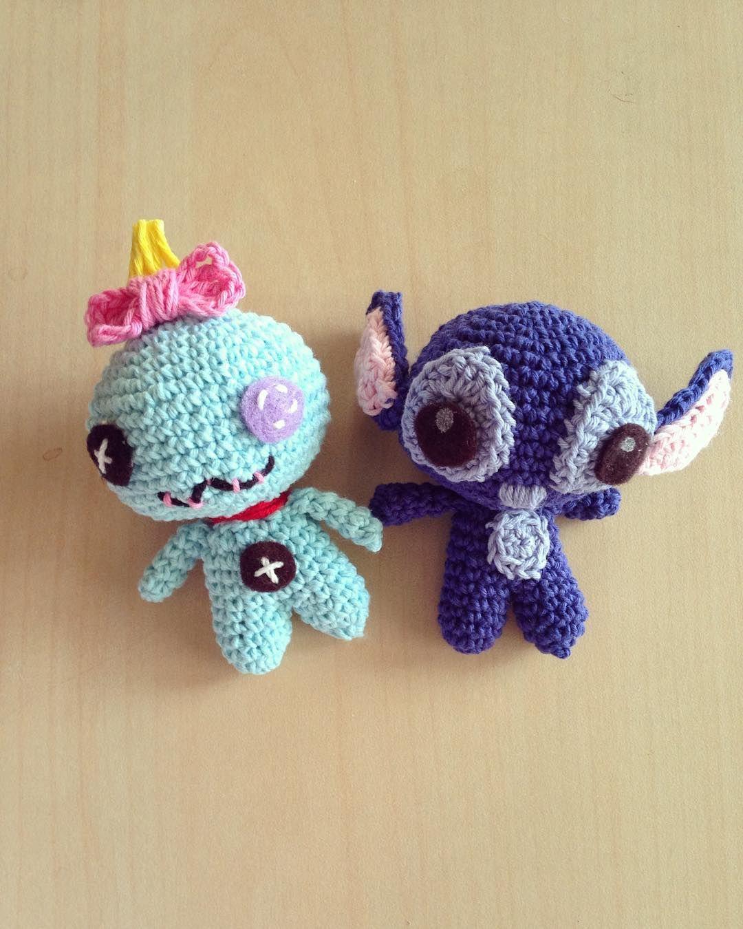 Lilo\'s fav scrump doll and stitch #amigurumi #bonekarajut #crochet ...