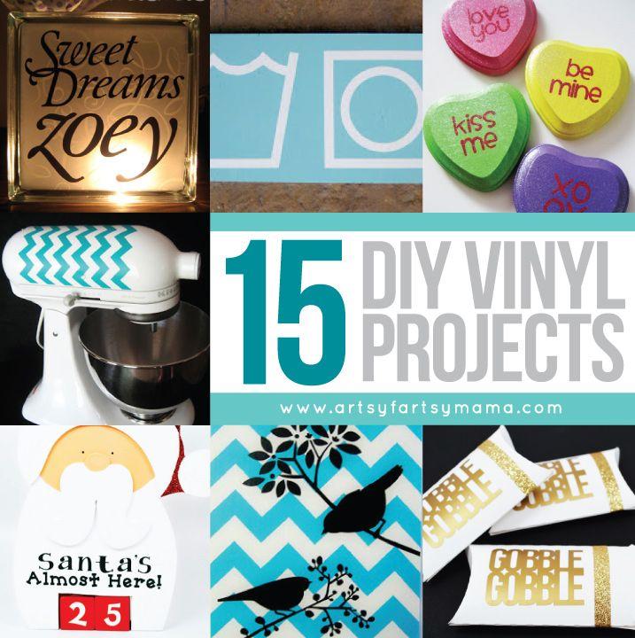 Creative Cricut And Vinyl Projects On Pinterest: 15 DIY Vinyl Projects At Artsyfartsymama.com #vinyl