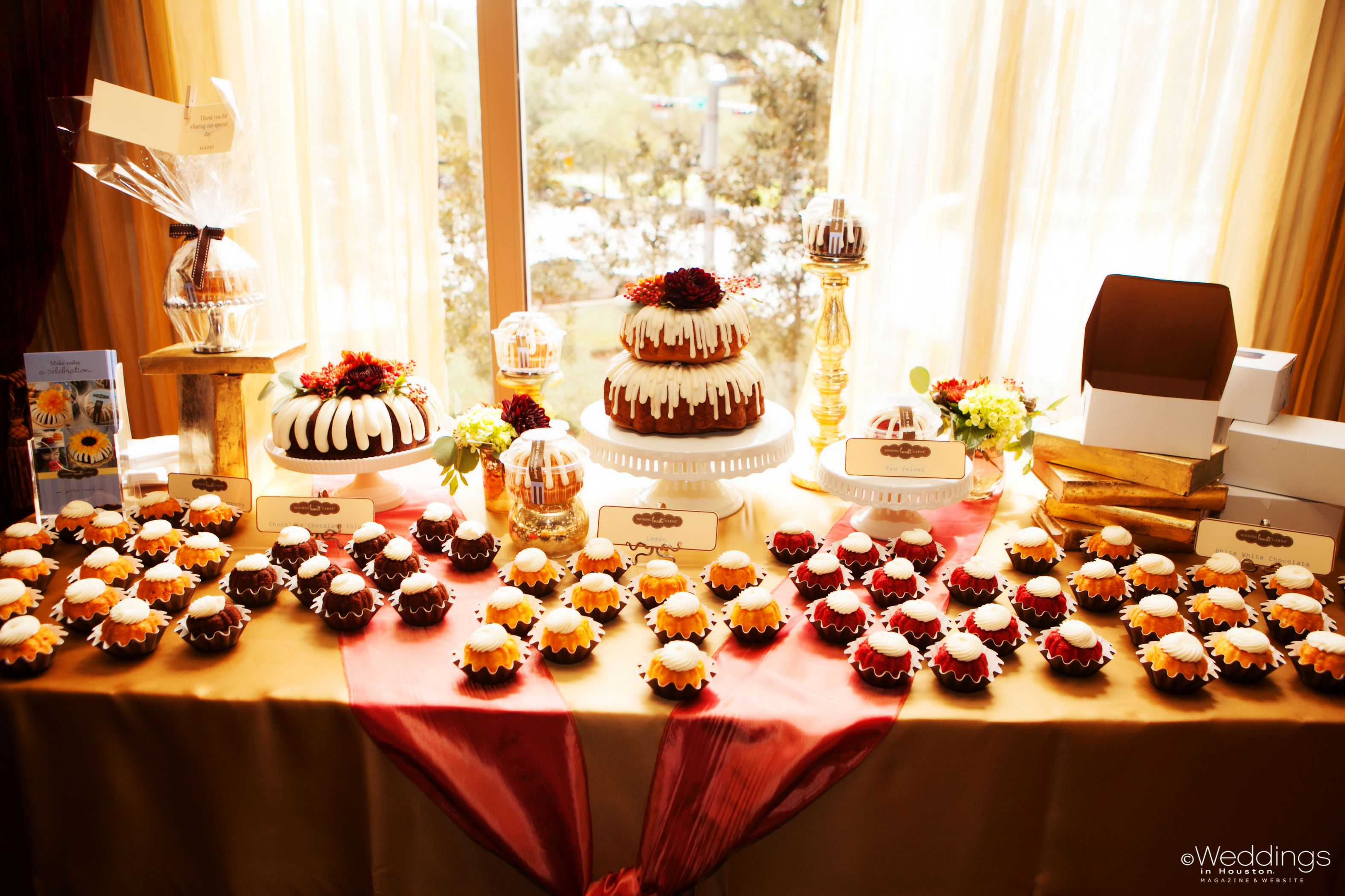 Bundt cake dessert table by Nothing Bundt Cakes Featured